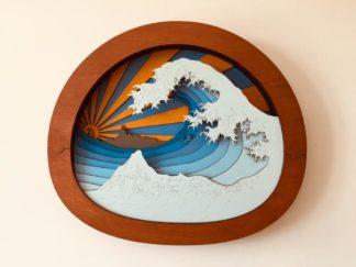 satoshi rides the waves 1 #bitcoin #crypto #art