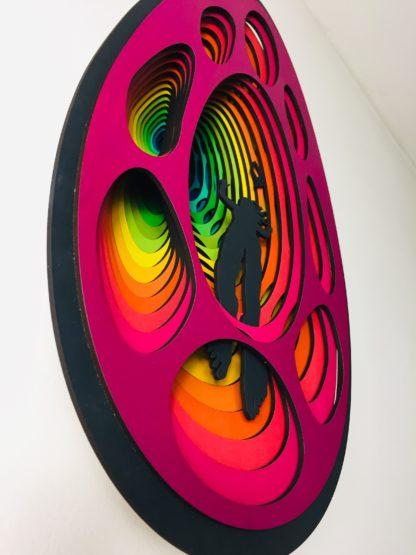 laser cut satoshi rabbit hole bitcoin art 5i