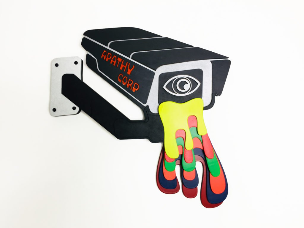 Apathy Corp - Laser cut cypherpunk art 1