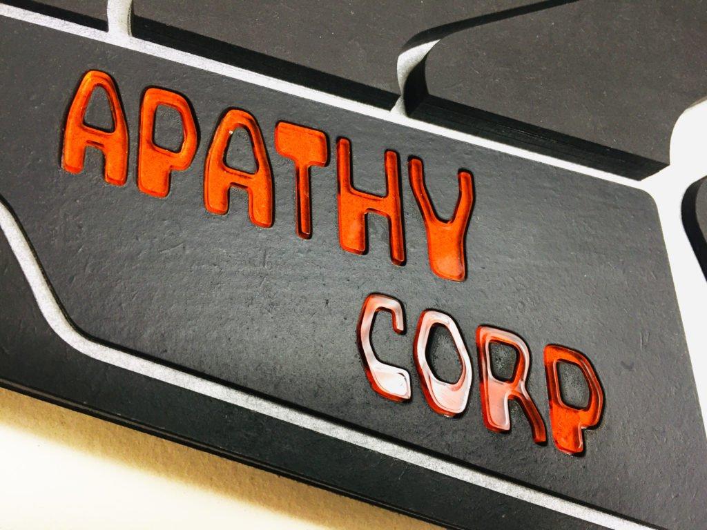 Apathy Corp - Laser cut cypherpunk art 2