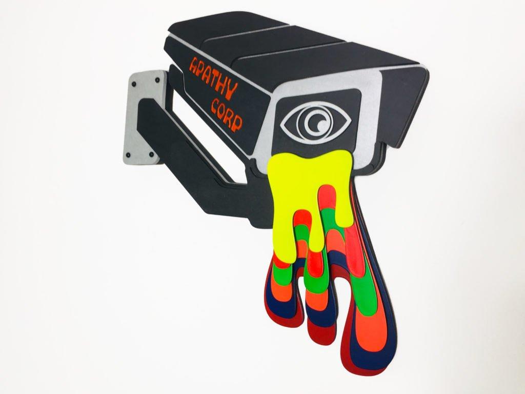 Apathy Corp - Laser cut cypherpunk art 4