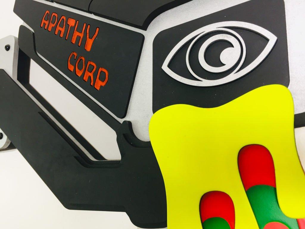 Apathy Corp - Laser cut cypherpunk art 6