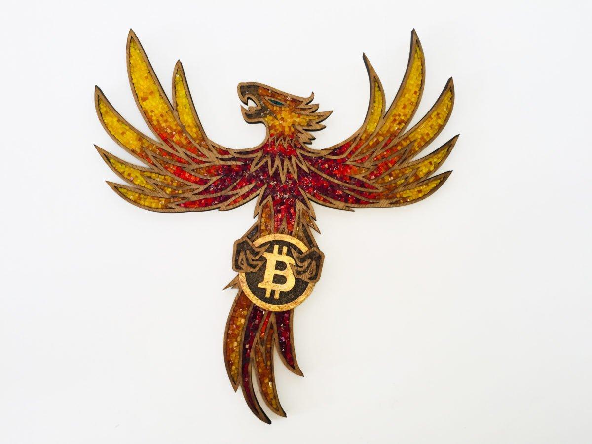 The Phoenix Bitcoin Art